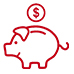Financial Stability - Piggy bank icon